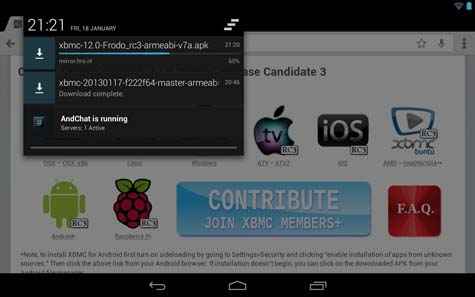Kodi-on-android