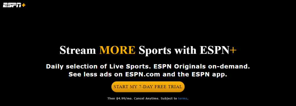 espn plus kostenlose Testversion